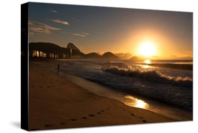 Sunrise in Copacabana Beach-dabldy-Stretched Canvas Print