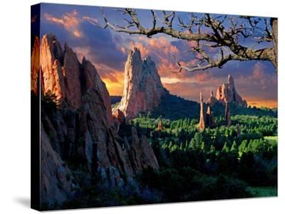 Morning Light at Garden of the Gods-pilgrims49-Stretched Canvas Print