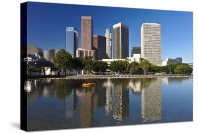 Los Angeles City Skyline-rebelml-Stretched Canvas Print