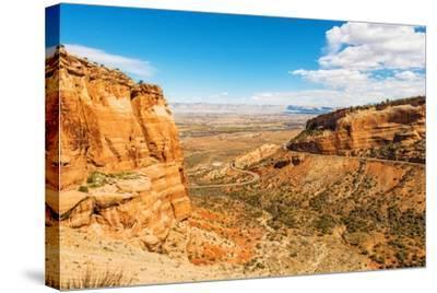 West Colorado Landscape-duallogic-Stretched Canvas Print
