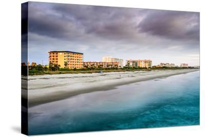 Cocoa Beach, Florida Beachfront Hotels and Resorts.-SeanPavonePhoto-Stretched Canvas Print