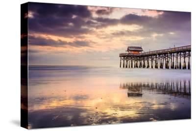 Cocoa Beach, Florida, USA at the Pier.-SeanPavonePhoto-Stretched Canvas Print