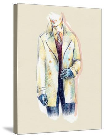 Man in Coat-Anna Ismagilova-Stretched Canvas Print