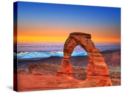 Arches National Park Delicate Arch Sea of Clouds in Moab Utah USA Photo Mount-holbox-Stretched Canvas Print