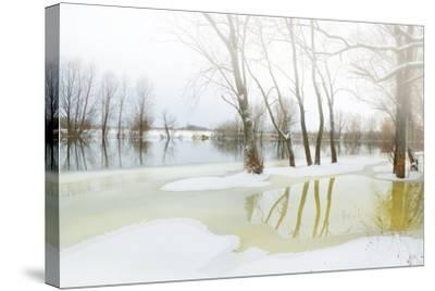 Winter River- Andrejkoslav-Stretched Canvas Print