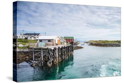 Aproaching A Small Harbor in Northern Norway-Lamarinx-Stretched Canvas Print