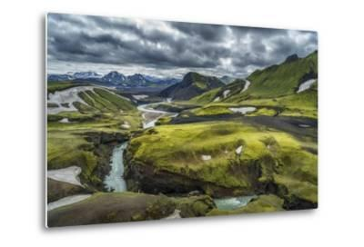 The Emstrua River, Thorsmork, Iceland-Arctic-Images-Metal Print