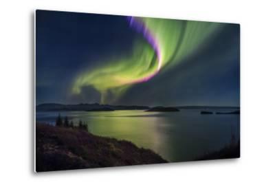 Aurora Borealis or Northern Lights, Iceland-Arctic-Images-Metal Print