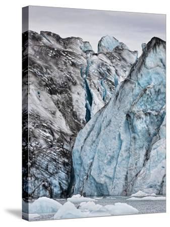 Ice Walls- Jokulsarlon Glacial Lagoon, Breidarmerkurjokull Glacier, Vatnajokull Ice Cap, Iceland-Arctic-Images-Stretched Canvas Print