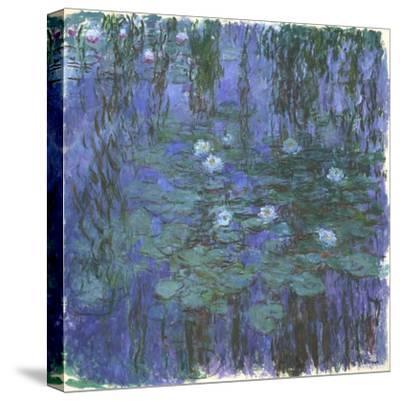 Nymphéas Bleus (Blue Water Lilies) by Claude Monet-Claude Monet-Stretched Canvas Print