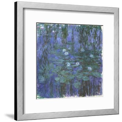 Nymphéas Bleus (Blue Water Lilies) by Claude Monet-Claude Monet-Framed Giclee Print