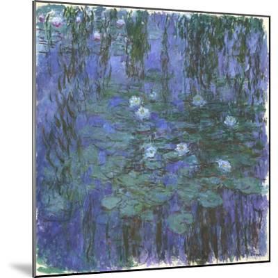 Nymphéas Bleus (Blue Water Lilies) by Claude Monet-Claude Monet-Mounted Giclee Print