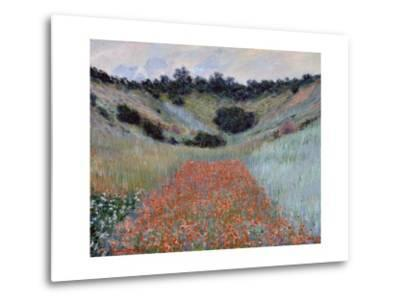Poppy Field in a Hollow near Giverny by Claude Monet-Claude Monet-Metal Print