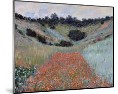 Poppy Field in a Hollow near Giverny by Claude Monet-Claude Monet-Mounted Giclee Print