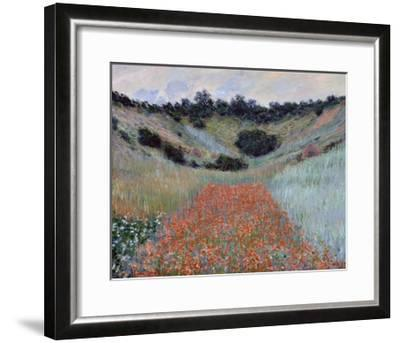 Poppy Field in a Hollow near Giverny by Claude Monet-Claude Monet-Framed Giclee Print