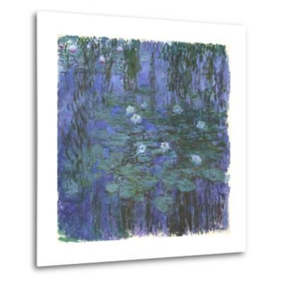 Nymphéas Bleus (Blue Water Lilies) by Claude Monet-Claude Monet-Metal Print
