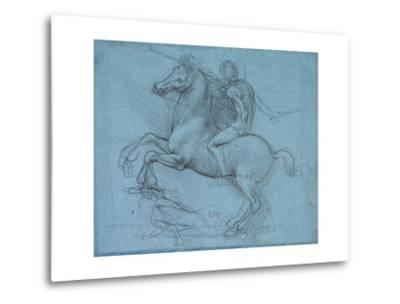 Study for an Equestrian Monument, Recto, by Leonardo Da Vinci-Leonardo Da Vinci-Metal Print