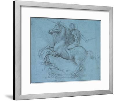 Study for an Equestrian Monument, Recto, by Leonardo Da Vinci-Leonardo Da Vinci-Framed Giclee Print