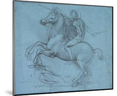 Study for an Equestrian Monument, Recto, by Leonardo Da Vinci-Leonardo Da Vinci-Mounted Giclee Print