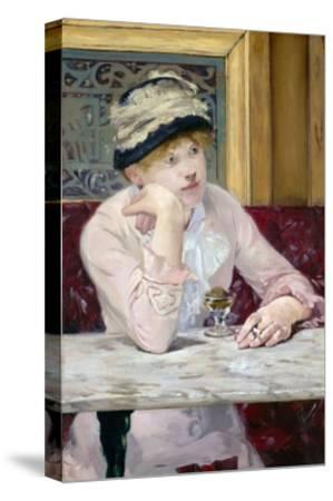Plum Brandy by ‰Douard Manet-?douard Manet-Stretched Canvas Print