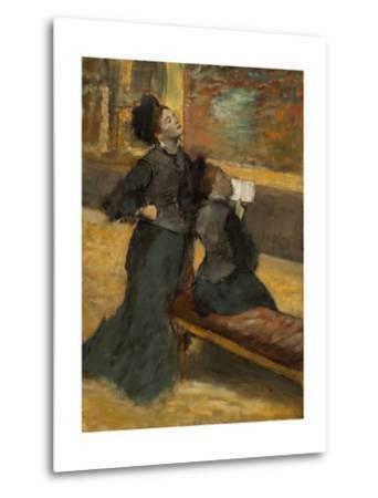 Visit to a Museum by Edgar Degas-Edgar Degas-Metal Print