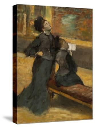 Visit to a Museum by Edgar Degas-Edgar Degas-Stretched Canvas Print