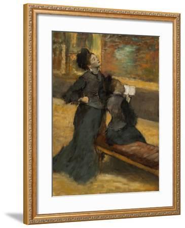 Visit to a Museum by Edgar Degas-Edgar Degas-Framed Giclee Print
