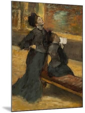Visit to a Museum by Edgar Degas-Edgar Degas-Mounted Giclee Print