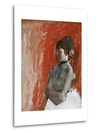 Ballet Dancer with Arms Crossed by Edgar Degas-Edgar Degas-Metal Print