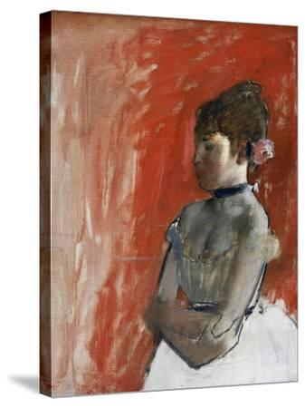 Ballet Dancer with Arms Crossed by Edgar Degas-Edgar Degas-Stretched Canvas Print