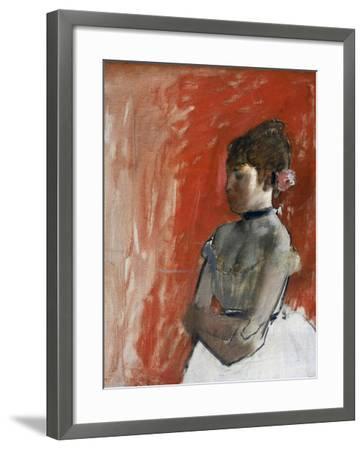 Ballet Dancer with Arms Crossed by Edgar Degas-Edgar Degas-Framed Giclee Print