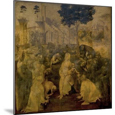 Adoration of the Magi by Leonardo Da Vinci-Leonardo Da Vinci-Mounted Giclee Print
