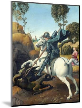 Saint George and the Dragon by Raphael--Mounted Giclee Print