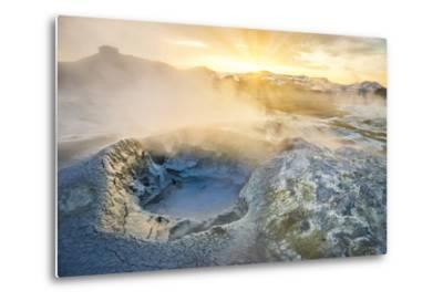 Boiling Mud Pots in Geothermal Area, Iceland-Arctic-Images-Metal Print