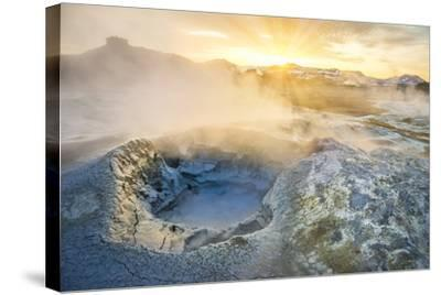 Boiling Mud Pots in Geothermal Area, Iceland-Arctic-Images-Stretched Canvas Print