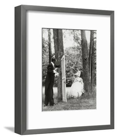 Model in the Forest-Gene Moore-Framed Premium Giclee Print
