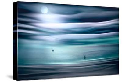 Sailing by Moonlight-Ursula Abresch-Stretched Canvas Print