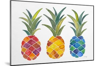 Pineapples-Cat Coquillette-Mounted Giclee Print