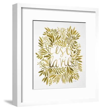 C'est La Vie in Gold-Cat Coquillette-Framed Giclee Print