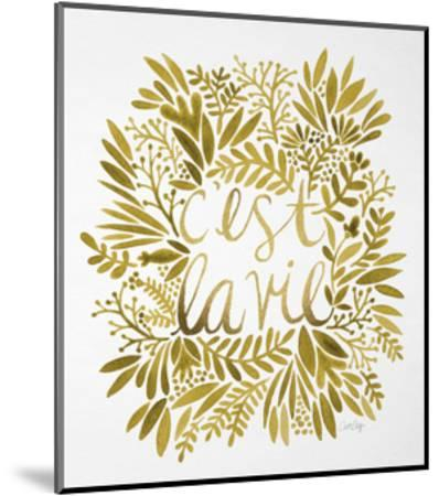 C'est La Vie in Gold-Cat Coquillette-Mounted Giclee Print