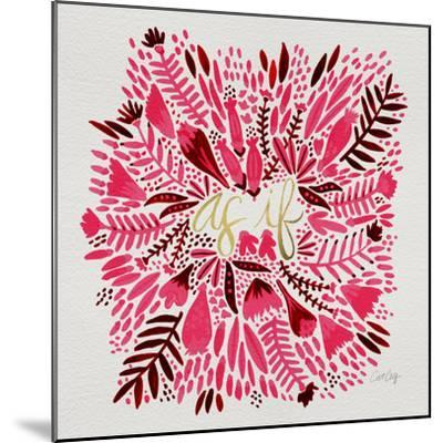 As If - Pink-Cat Coquillette-Mounted Giclee Print