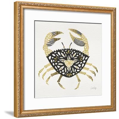 BlackGold-Crab-Artprint-Cat Coquillette-Framed Giclee Print