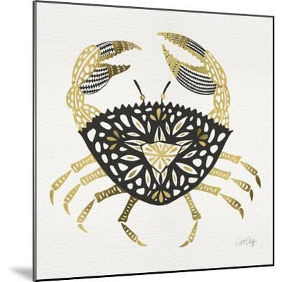 BlackGold-Crab-Artprint-Cat Coquillette-Mounted Giclee Print
