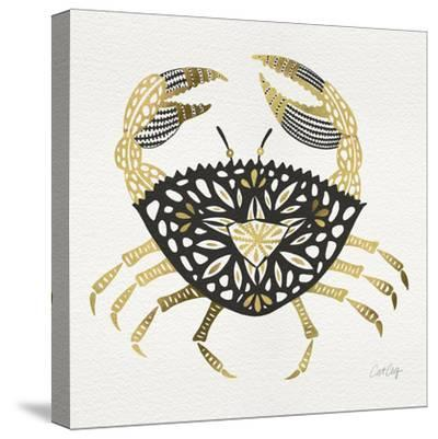 BlackGold-Crab-Artprint-Cat Coquillette-Stretched Canvas Print