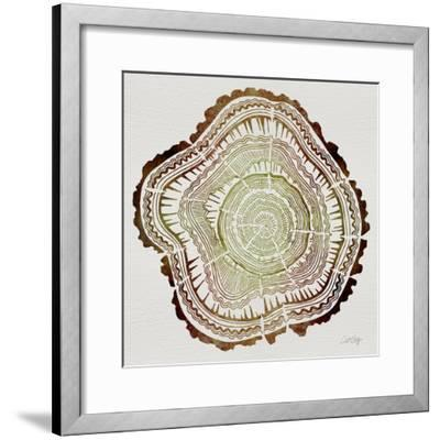Tree Rings in Brown-Cat Coquillette-Framed Giclee Print