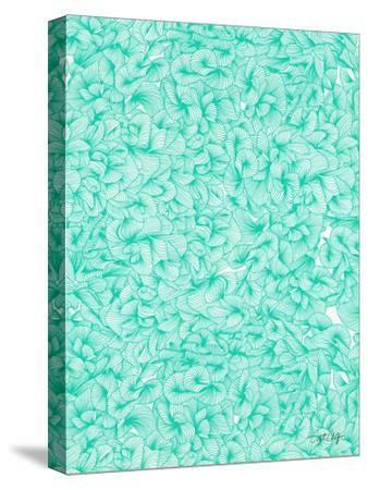 Knee Deep in Turquoise Ink-Cat Coquillette-Stretched Canvas Print