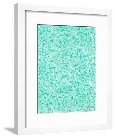 Knee Deep in Turquoise Ink-Cat Coquillette-Framed Giclee Print