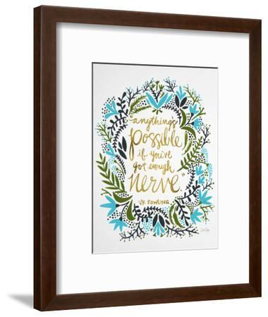 Nerve - Green and Gold-Cat Coquillette-Framed Giclee Print