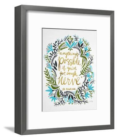 Nerve - Green and Gold-Cat Coquillette-Framed Premium Giclee Print