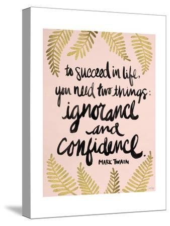 Ignorance and Confidence - Gold and Blush – Cat Coqullette-Cat Coquillette-Stretched Canvas Print